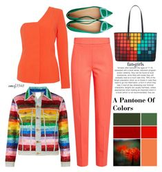 """""""A Pantone Of Colors"""" by emcf3548 ❤ liked on Polyvore featuring Ashish, Anya Hindmarch, MaxMara and SemSem"""