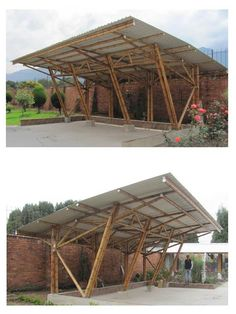 Ideas to decorate your home in Habitissimo Bamboo House Design, Bungalow House Design, Bamboo Architecture, Sustainable Architecture, Bamboo Construction, Garage Construction, Bamboo Roof, Bamboo Building, Bamboo Structure