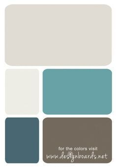 I think i am liking the blue as the accent wall, and the creamy gray as the main room colors. Blue Gray Bedroom, Bedroom Colors, Teal Bedrooms, Bedroom Ideas, Brown Teal, Teal And Grey, Teal Living Rooms, Living Room Paint, Exterior Paint Colors For House