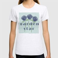 Watercolor Roses Are Blue Garden Star T-shirt