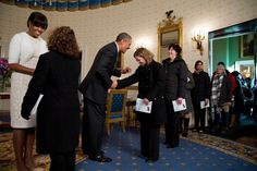 President Barack and First Lady Michelle Obama Surprise and Greet Visitors at an Inaugural Open House (1/23/13)