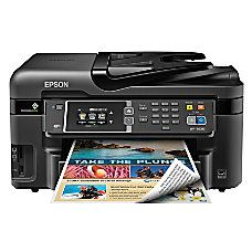 epson workforce wf 3620 wireless color inkjet all in one printer copier scanner fax by office depot officemax