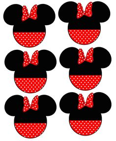 6 Disney Minnie Mouse Head Fabric/T-Shirt Iron On Transfers & Garden Red Minnie Mouse, Mickey Mouse Parties, Minnie Mouse Shirts, Easy Crafts To Sell, Disney Printables, Mickey Mouse Birthday, Mickey And Friends, Disney Crafts, Vegan Coleslaw