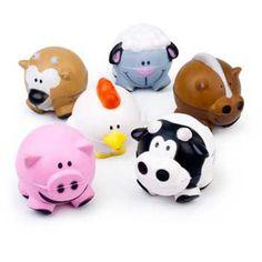Farm Foam Ball party favors