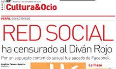 Censura al Facebook de El Diván Rojo - Periódico ADN Medellín. Martes 7 de diciembre 2010. Página 14