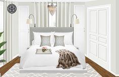 Glam, Transitional, Preppy Bedroom Design by Havenly Interior Designer Alissa Preppy Bedroom, Design Process, Master Bedroom, Interior Design, Inspiration, Furniture, Home Decor, Master Suite, Nest Design