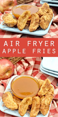 Air Fryer Apple Fries with caramel sauce. This is an easy and delicious fall des. - Dessert Recipes Air Fryer Apple Fries with caramel sauce. This is an easy and delicious fall des. Smores Dessert, Bon Dessert, Fall Dessert Recipes, Fall Recipes, Dessert Food, Breakfast Recipes, Caramel Recipes, Easy Fall Desserts, Delicious Desserts