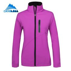 68770f2f6 New Water Resistant Windstopper Sport Fishing Hiking Softshell Outdoor  Jacket Women Camping Coat Fleece Liner Chaquetas Mujer-in Hiking Jackets  from Sports ...