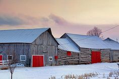 red barn doors by Gordon W.