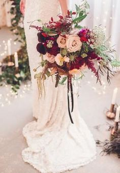 Burgundy Bouquet 6 - Hi Miss Puff 40 Burgundy Wedding Bouquets for Fall / Winter Wedding – Page 2 – Hi Miss Puff Burgundy Wedding, Floral Wedding, Wedding Colors, Fall Wedding, Dream Wedding, Wedding Dress, Burgundy Bouquet, Wedding 2017, Quirky Wedding