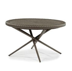 This is 24in. high, 42 ft round. This is a conversation table.    Width:42in.    Depth: 42in
