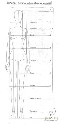 Desenhando croqui de moda - Writing Tutorial and Ideas Illustration Mode, Fashion Illustration Sketches, Fashion Sketchbook, Fashion Sketches, Art Sketchbook, Drawing Sketches, Art Drawings, Illustrations, Fashion Figure Templates