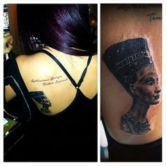 My 2th tattoo is Nefertiti.Ancient Egyptian queen Nefertiti represents the female power,strength,honour,beauty and wisdom.