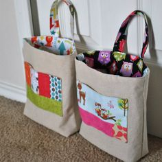 Cute little bags for the kids to take stuff in.  Would be great for church!
