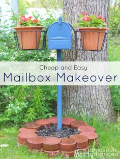 Makeover your own mailbox for less when you check out this cheap mailbox makeover, perfect for adding some curb appeal to your home.