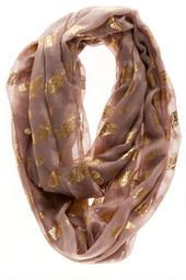 Dresden Owl Loop Scarf- I can't resist the gold owls.