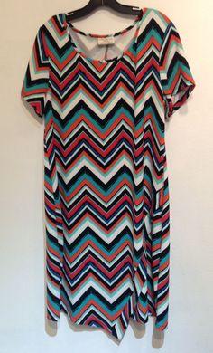 4b16a42b89f6e bobbie brooks Plus Size chevron dress size 2X  BobbieBrooks  ShirtDress   Casual Plus Size