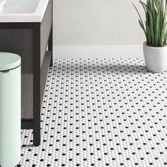 Ceramic Mosaic Tile, Mosaic Wall, Mosaic Glass, Porcelain Tile, White Porcelain, Penny Round Tiles, Wall And Floor Tiles, Penny Tile Floors, Wall Tiles