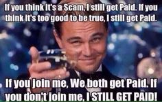 Network Marketing is where it's at folks! Join my team and we will work to financial freedom together..