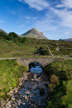 Marsco and the Small Bridge at Sligachan, Isle of Skye