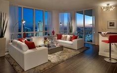 Miami-Interior-Design-Photographer-living-room-night-in-miami-Viscayne
