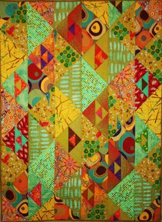 "Prisms, approx 46 x 64"", by Pamela Goecke Dinndorf, at Aardvark Quilts"