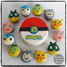 Cupcakes y Torta Pokemon