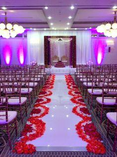 Indian wedding aisle at @Four Seasons Resort and Club Dallas at Las Colinas by @Bella Flora of Dallas
