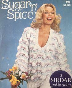 Vintage Knitting, 1970s, Knitting Patterns, Lace, Artwork, Sweaters, Women, Fashion, Moda