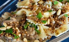 This is Jewish comfort food—carbs on carbs—is made with Kasha, which is a naturally gluten-free buckwheat, and bow-tie noodles. If following a gluten-free diet, choose quinoa or brown rice pasta. The addition of mushrooms and pine nuts make this a well-balanced delicious dish. Bow Tie Noodles, Brown Rice Pasta, Farfalle Pasta, Stuffed Mushrooms, Stuffed Peppers, Grain Foods, Gluten Free Diet, Buckwheat, Tasty Dishes