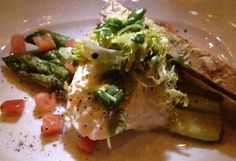 enoSTEAK's at The Ritz Carlton (Dana Point) asparagus and burrata salad