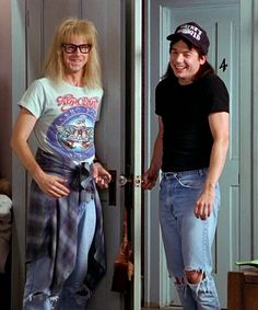 Wayne and Garth halloween costume reference.  sc 1 st  Pinterest & Wayneu0027s World | Pinterest | Diy costumes Clever and Costumes