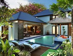 Bali houses design pictures tropical house design modern tropical house tropical pool tropical interior design home decor ideas Tropical House Design, Tropical Houses, Modern Tropical House, Tropical Interior, Balinese Villa, Balinese Garden, Rest House, Garden Villa, Villa Design