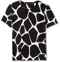 Burberry Prorsum Giraffe-Print Cotton-Jersey T-Shirt | MR PORTER