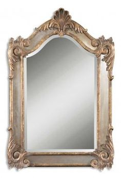 alvita small gold wall mirror, antiqued side mirrors and an antiqued gold leaf frame with a dark gray glaze