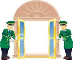 Doormen Royalty Free Stock Vector Art Illustration