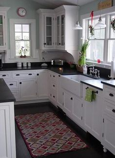 Beautiful painted maple custom cabinetry, inspired by a film. (Cultivate.com)