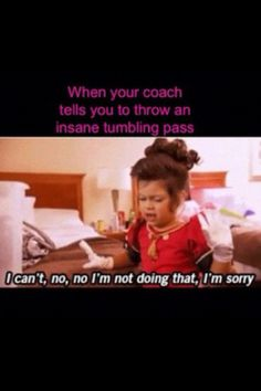 so funny even though i don't tumble #cheerleaderproblems