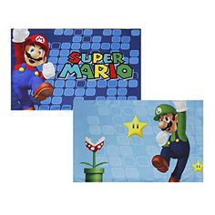 Super Mario Pillowcase Set Nintendo Fresh Look Bedding Accessories: CONTENTS: Two standard pillowcases, each with a finished size of 20 x 30 inches x 76 cm), to fit 20 x 26 inch pillows. Pillow Set, Throw Pillow Covers, Mario Room, Nintendo, Super Mario, Kid Names, Kids Furniture, Games For Kids, Kids Room