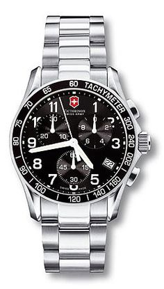 Chrono Classic 241122 - Large Black Dial - Stainless Steel Bracelet