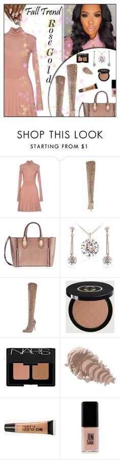 """""""Fall Jewelry Trend: Rose Gold/Top Notch"""" by melindairenes ❤ liked on Polyvore featuring PF Paola Frani, Henri Bendel, Gucci, NARS Cosmetics, Torrid, Jin Soon and rosegold"""