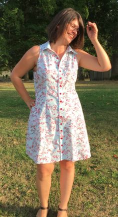 Ginger's Rosa shirt dress - sewing pattern by Tilly and the Buttons Shirt Dress Pattern, Tilly And The Buttons, Dress Sewing, Sewing For Beginners, Sewing Patterns, Summer Dresses, Selfish, Instagram, How To Make
