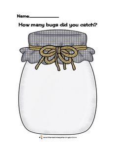This is a freebie Bug Counting Jar recording page for children to count and record in pictures, words or both. In my class we use bug stamps and wri. Speech Language Therapy, Speech And Language, Speech Therapy, Miss Kindergarten, Kindergarten Activities, Speech Activities, Therapy Activities, Teaching Numbers, Spring Theme