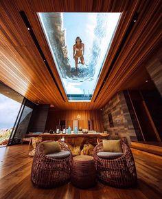 via heavywait - modern design architecture interior design home decor & Popup House, Cozy Room, Lounge Areas, Modern House Design, Glass House Design, Home Fashion, Luxury Fashion, Home Interior Design, Luxury Interior