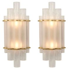 Murano Art Deco Sconces | From a unique collection of antique and modern wall lights and sconces at http://www.1stdibs.com/furniture/lighting/sconces-wall-lights/