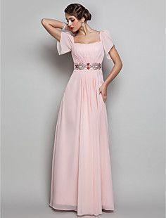 Sheath/Column Square Floor-length Chiffon Evening/Prom Dress... – USD $ 98.99