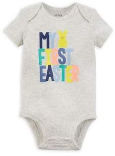 3daa717c7 Carter's My First Easter Bodysuit Baby's First Easter Basket, My First  Easter, Cute Bodysuits
