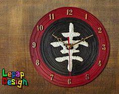 Relógio de parede - Ideograma felicidade