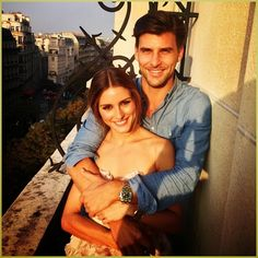 Olivia Palermo with Johannes Huebl In Paris.
