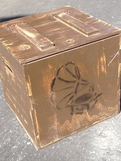 Unique record storage crates by recirclematter on Etsy